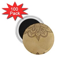 Vintage Background Paper Mandala 1 75  Magnets (100 Pack)