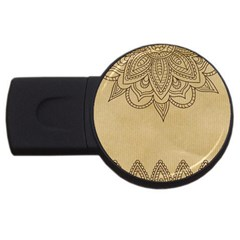 Vintage Background Paper Mandala Usb Flash Drive Round (4 Gb)