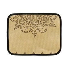 Vintage Background Paper Mandala Netbook Case (small)