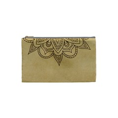 Vintage Background Paper Mandala Cosmetic Bag (small)  by Celenk