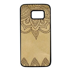 Vintage Background Paper Mandala Samsung Galaxy S7 Black Seamless Case by Celenk