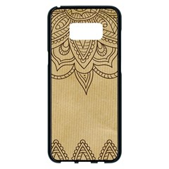 Vintage Background Paper Mandala Samsung Galaxy S8 Plus Black Seamless Case by Celenk