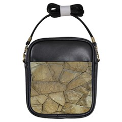 Brick Wall Stone Kennedy Girls Sling Bags by Celenk