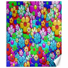 Flowers Ornament Decoration Canvas 8  X 10