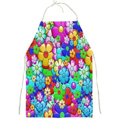 Flowers Ornament Decoration Full Print Aprons