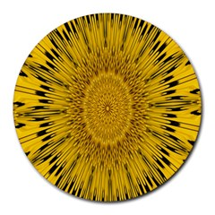 Pattern Petals Pipes Plants Round Mousepads by Celenk