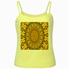 Pattern Petals Pipes Plants Yellow Spaghetti Tank by Celenk