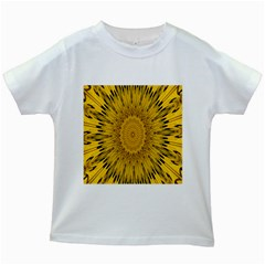 Pattern Petals Pipes Plants Kids White T Shirts by Celenk