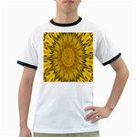 Pattern Petals Pipes Plants Ringer T-Shirts Front