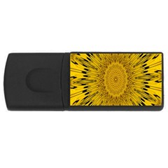 Pattern Petals Pipes Plants Rectangular Usb Flash Drive