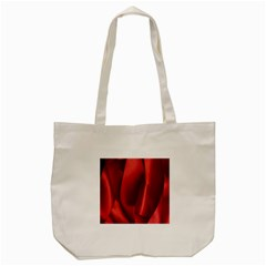 Red Fabric Textile Macro Detail Tote Bag (cream) by Celenk