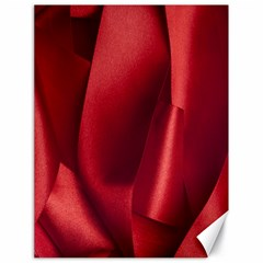 Red Fabric Textile Macro Detail Canvas 18  X 24   by Celenk