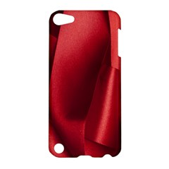Red Fabric Textile Macro Detail Apple Ipod Touch 5 Hardshell Case by Celenk