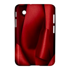 Red Fabric Textile Macro Detail Samsung Galaxy Tab 2 (7 ) P3100 Hardshell Case  by Celenk