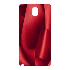 Red Fabric Textile Macro Detail Samsung Galaxy Note 3 N9005 Hardshell Back Case by Celenk
