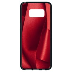 Red Fabric Textile Macro Detail Samsung Galaxy S8 Black Seamless Case