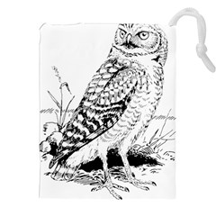 Animal Bird Forest Nature Owl Drawstring Pouches (xxl) by Celenk