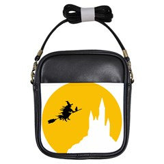 Castle Cat Evil Female Fictional Girls Sling Bags by Celenk