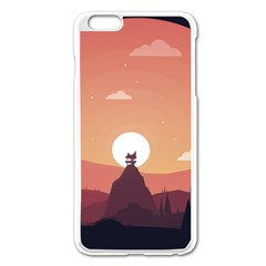 Design Art Hill Hut Landscape Apple Iphone 6 Plus/6s Plus Enamel White Case