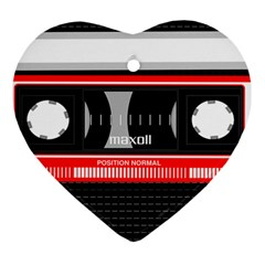 Compact Cassette Musicassette Mc Heart Ornament (two Sides) by Celenk