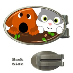 Baby Decoration Cat Dog Stuff Money Clips (oval)