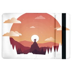 Design Art Hill Hut Landscape Ipad Air 2 Flip