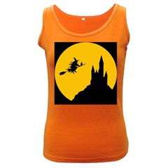 Castle Cat Evil Female Fictional Women s Dark Tank Top by Celenk