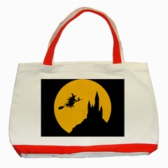 Castle Cat Evil Female Fictional Classic Tote Bag (red) by Celenk