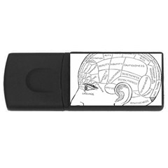 Brain Chart Diagram Face Fringe Rectangular Usb Flash Drive by Celenk
