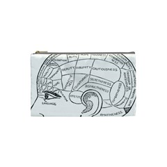 Brain Chart Diagram Face Fringe Cosmetic Bag (small)  by Celenk