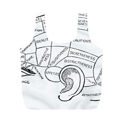 Brain Chart Diagram Face Fringe Full Print Recycle Bags (m)  by Celenk