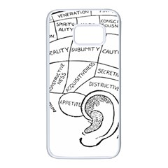 Brain Chart Diagram Face Fringe Samsung Galaxy S7 White Seamless Case