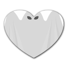 Ghost Halloween Spooky Horror Fear Heart Mousepads by Celenk