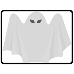 Ghost Halloween Spooky Horror Fear Fleece Blanket (large)