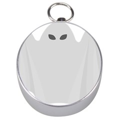 Ghost Halloween Spooky Horror Fear Silver Compasses by Celenk