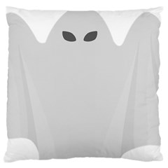 Ghost Halloween Spooky Horror Fear Large Flano Cushion Case (one Side) by Celenk