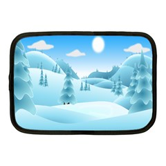 Landscape Winter Ice Cold Xmas Netbook Case (medium)  by Celenk