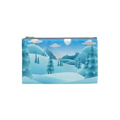 Landscape Winter Ice Cold Xmas Cosmetic Bag (small)