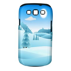 Landscape Winter Ice Cold Xmas Samsung Galaxy S Iii Classic Hardshell Case (pc+silicone) by Celenk