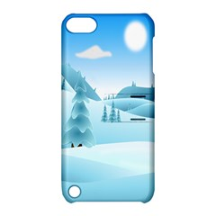 Landscape Winter Ice Cold Xmas Apple Ipod Touch 5 Hardshell Case With Stand by Celenk
