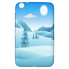 Landscape Winter Ice Cold Xmas Samsung Galaxy Tab 3 (8 ) T3100 Hardshell Case  by Celenk