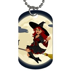Witch Witchcraft Broomstick Broom Dog Tag (two Sides) by Celenk