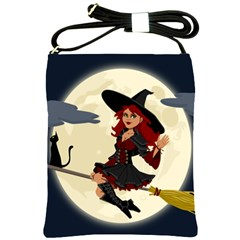 Witch Witchcraft Broomstick Broom Shoulder Sling Bags by Celenk