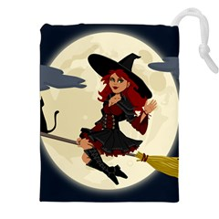 Witch Witchcraft Broomstick Broom Drawstring Pouches (xxl) by Celenk