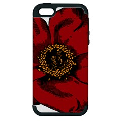 Floral Flower Petal Plant Apple Iphone 5 Hardshell Case (pc+silicone) by Celenk