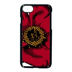 Floral Flower Petal Plant Apple Iphone 8 Seamless Case (black) by Celenk