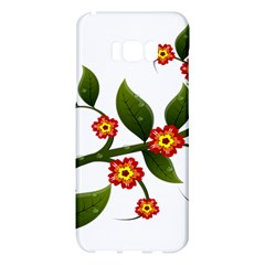 Flower Branch Nature Leaves Plant Samsung Galaxy S8 Plus Hardshell Case  by Celenk