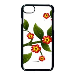Flower Branch Nature Leaves Plant Apple Iphone 8 Seamless Case (black) by Celenk