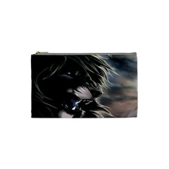 Angry Lion Digital Art Hd Cosmetic Bag (small)  by Celenk
