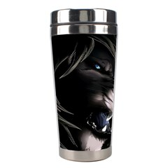 Angry Lion Digital Art Hd Stainless Steel Travel Tumblers by Celenk
